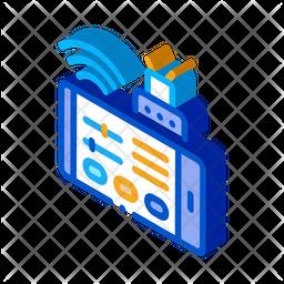 App Control Isometric Icon