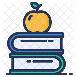 Apple Book Colored Outline Icon