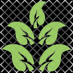 Apple Leaves Twig Icon