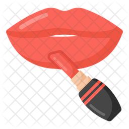 Applying Lipstick Icon