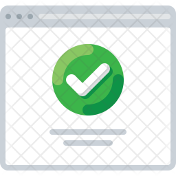 Approve webpage Icon