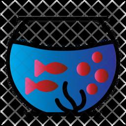 Aquarium Colored Outline Icon