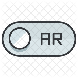 Ar Colored Outline Icon
