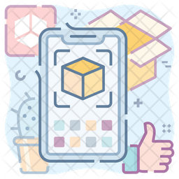 Ar App Colored Outline Icon
