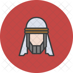 Arab Colored Outline Icon