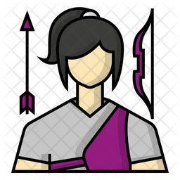 Archery player Icon