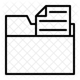 Archive File Line Icon