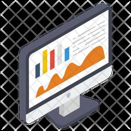 Area Graph Isometric Icon