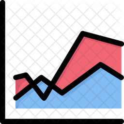 Area Graph Icon Of Colored Outline Style Available In Svg Png Eps Ai Icon Fonts