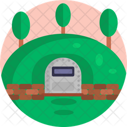 Army Cave Flat Icon