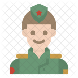 Army Officer Flat Icon