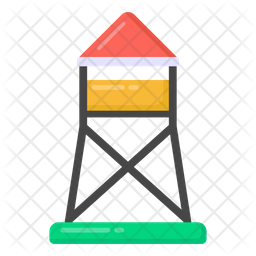 Army Tower Flat Icon