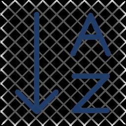 Arrange Alphabet Logo Icon