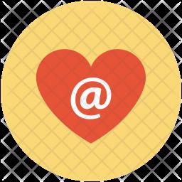 Arroba in heart Icon