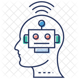 Artificial Intelligence Colored Outline Icon