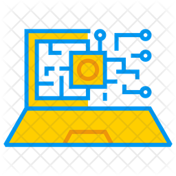 Artificial Intelligence On Laptop Icon