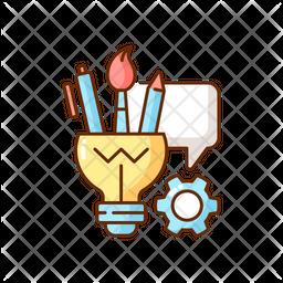 Artistic thinking Icon