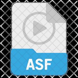 ASF file Flat Icon