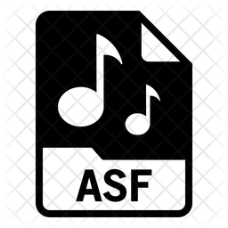 Asf file Glyph Icon