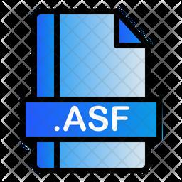 Asf File Colored Outline Icon