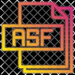 Asf File Gradient Icon