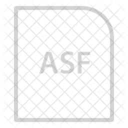 Asf File Line Icon