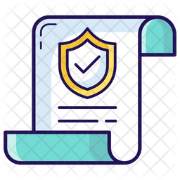 Assurance Policy Colored Outline Icon