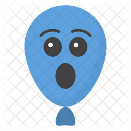 Astonished Balloon Emoji Icon