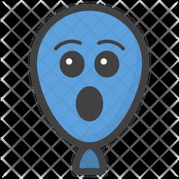 Astonished Balloon Emoji Icon