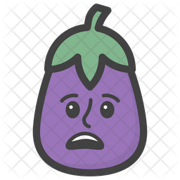 Astonished Brinjal Emoji Icon