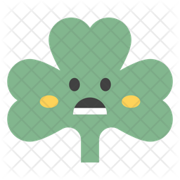 Astonished Coriander Emoji Icon