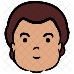 Astonished Man Colored Outline Icon