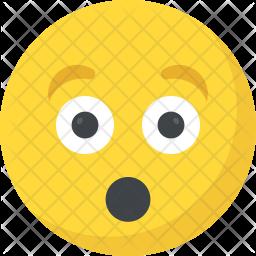 Astonished Smiley Flat Icon