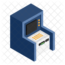 Atm, Cash, Withdraw, Machine, Isomatric, Debit Icon
