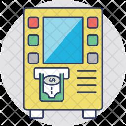 ATM Machine Colored Outline Icon