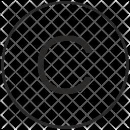 Atm, Ui, Letter, C, Uppercase, Alphabet Icon