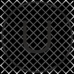 Atm, Ui, Letter, U, Uppercase, Alphabet Icon