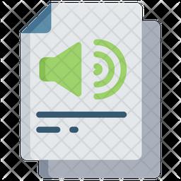 Audio Document Icon