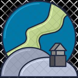 Aurora Borealis Icon
