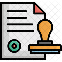 Authorized Colored Outline Icon