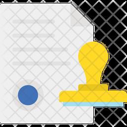 Authorized Flat Icon