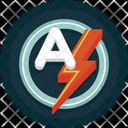 Auto Flash Flat Icon