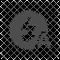 Auto Flash Glyph Icon