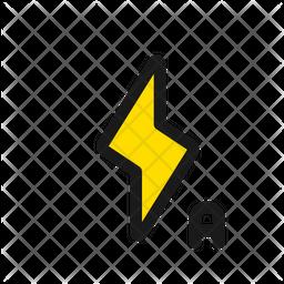 Auto Flash Colored Outline Icon