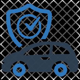 Auto Insurance Car Protection Umbrella Vehicle Icon Of Flat