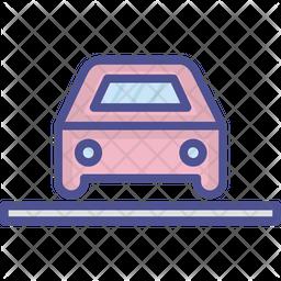 Automobile Colored Outline Icon