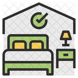 Available Room Icon Of Colored Outline Style Available In Svg Png Eps Ai Icon Fonts