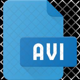 Avi Film Flat Icon