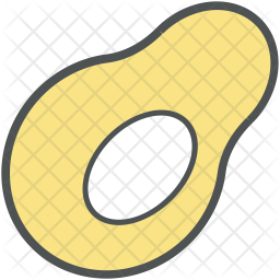 Avocado Colored Outline Icon