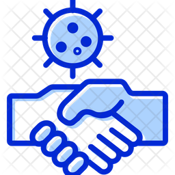 Avoid Hand Shake Colored Outline Icon